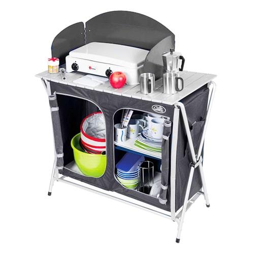 cuisine de camping cuccinella quick avec sac de transport -camping-car