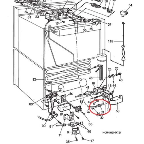 sonde de brûleur pour réfrigérateur dometic electrod probe camping-car