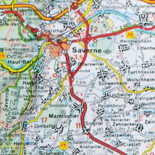 Carte Alsace Avec Camping.Carte Michelin Alsace Foret Noire Sites Touristiques Guide Vert
