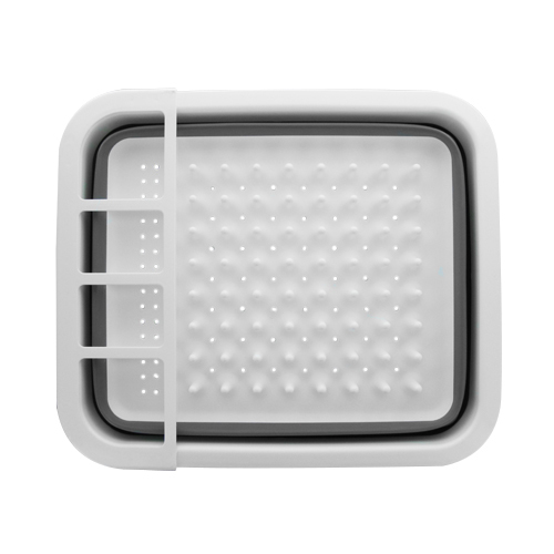 Égouttoir pliable en silicone avec plateau antidérapant - Camping-car