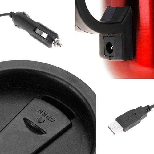 Sentik Bouteille isotherme de voyage avec prise allume-cigare USB 12V DC