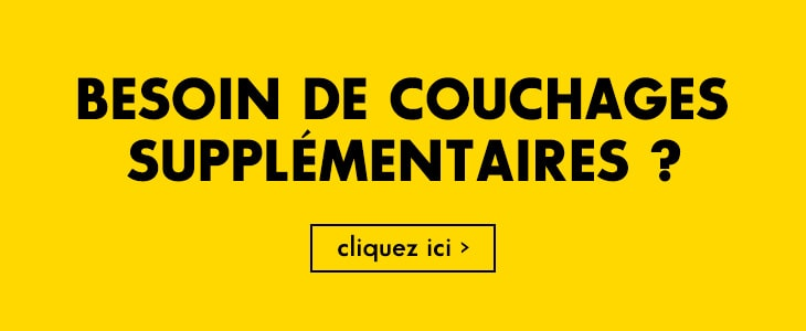 Solution couchages?
