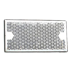 catadioptre blanc rectangulaire 105x54 x2