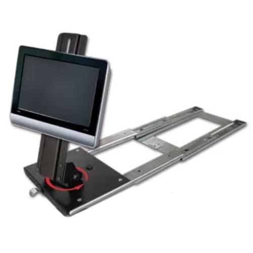 Support tv coulissant pivotant accessoires equipement for Meuble tv coulissant