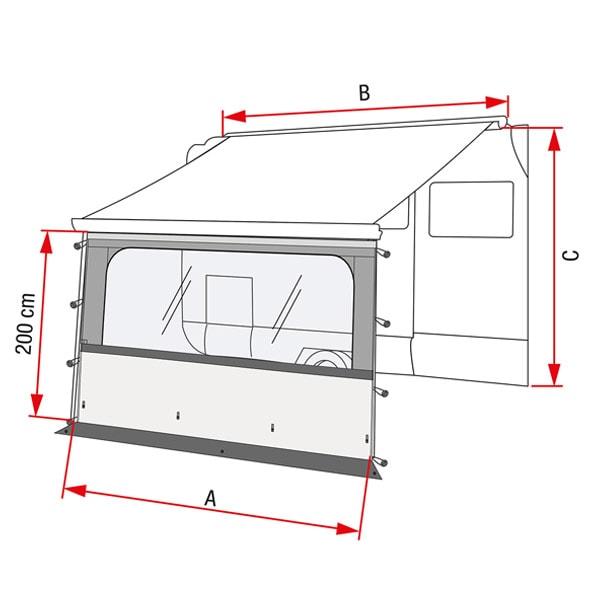 accessoires fiamma facade store 3m50 pour camping car et caravane. Black Bedroom Furniture Sets. Home Design Ideas