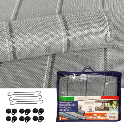 tapis de sol gris 300gr 5m x 2m50 pour auvent de camping. Black Bedroom Furniture Sets. Home Design Ideas