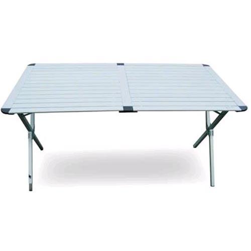 Table de camping aluminium 1400x800x700h avec sac de rangement for Table pliante avec rangement