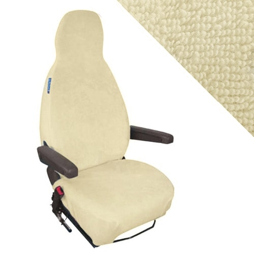 Housses si ges de cabine ponges coton extensible beige for Housse siege transporter t5
