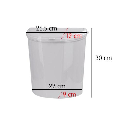Divers vaisselle/accessoire - Poubelle rigide 4.5 L blanche pour camping car / caravanne