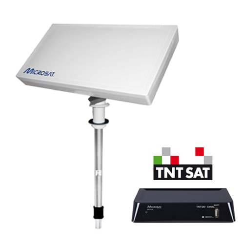 Antenne satellite msat330 microsat avec d mo hd ms310ir for Antenne tnt exterieur plate