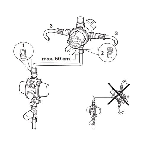 raccords gaz 10 mm duoc truma pour duo control duocomfort. Black Bedroom Furniture Sets. Home Design Ideas