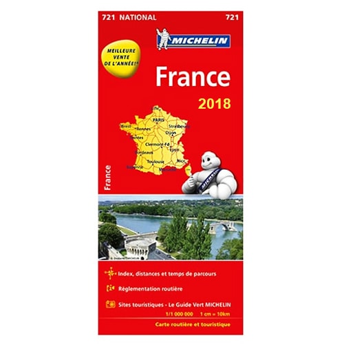 carte de france michelin 2018 pour vos trajets en camping car caravane. Black Bedroom Furniture Sets. Home Design Ideas