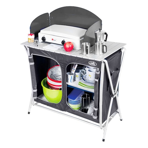 Cuisine de camping cuccinella quick avec sac de transport camping car - Meuble cuisine caravane ...