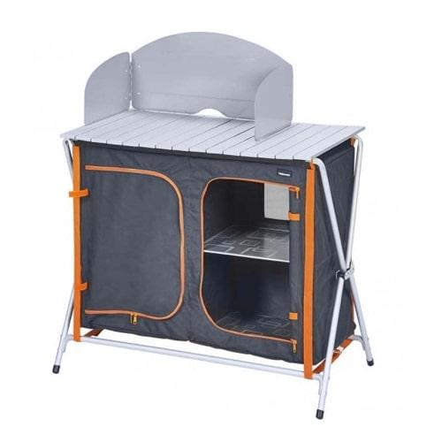 cuisine de camping trigano gris orange sac de transport camping car. Black Bedroom Furniture Sets. Home Design Ideas