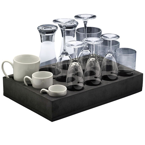 mousse de rangement pour 12 verres ou tasses. Black Bedroom Furniture Sets. Home Design Ideas