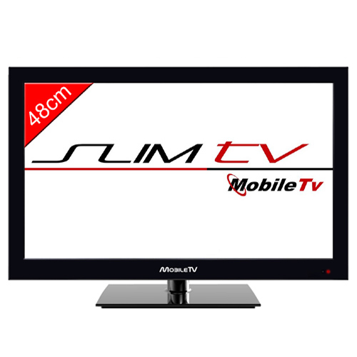 t l vision mobil tv led hd 47cm slim dvd tnt pour camping. Black Bedroom Furniture Sets. Home Design Ideas