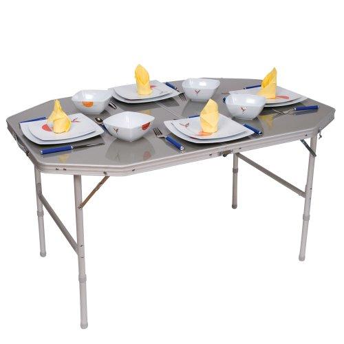 Table de camping alu pliante 120x80cm - Table pliante pour exposition ...