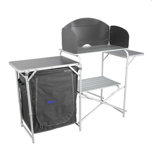 Meuble cuisine de camping snack en aluminium pour camping for Meuble aluminium cuisine