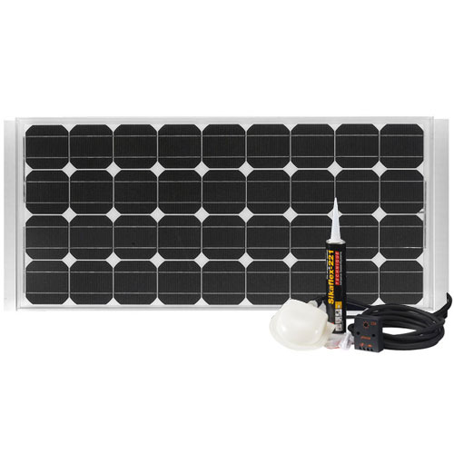 panneaux solaire kit panneau solaire 100 w pour capming car ou caravanes. Black Bedroom Furniture Sets. Home Design Ideas