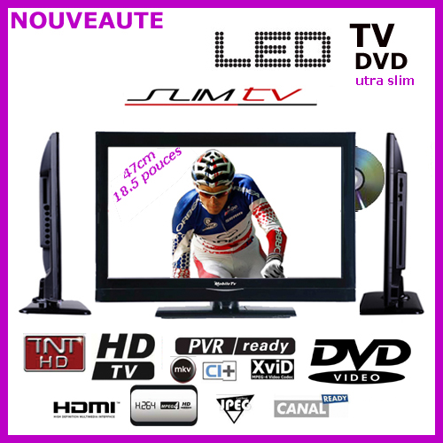 tv mobil tv slim led 47cm dvd tnt. Black Bedroom Furniture Sets. Home Design Ideas