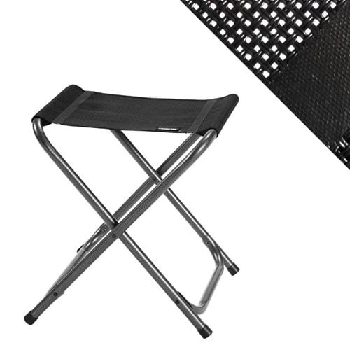 tabouret de camping vip noir en aluminium trigano sp cial camping. Black Bedroom Furniture Sets. Home Design Ideas