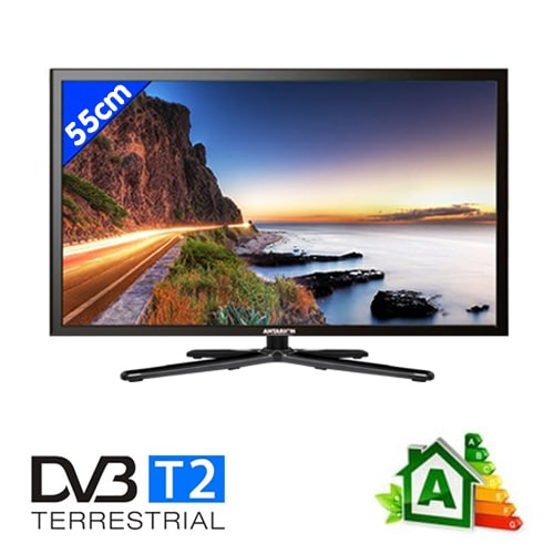 Télévision LED DVD T2 55 cm Antarion