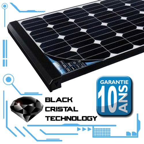kit complet panneau solaire black cristal 80w camping. Black Bedroom Furniture Sets. Home Design Ideas