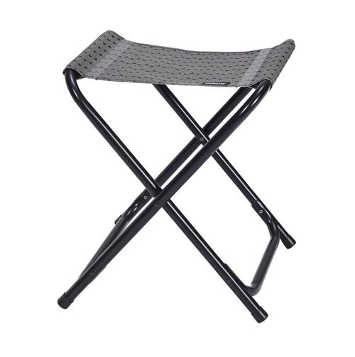 tabouret pliant trigano cocoon gris alu noir camping car. Black Bedroom Furniture Sets. Home Design Ideas