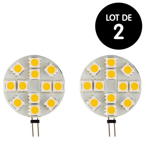 Lot 2 Ampoules LED G4 200 Lumens  2.2W 28mm