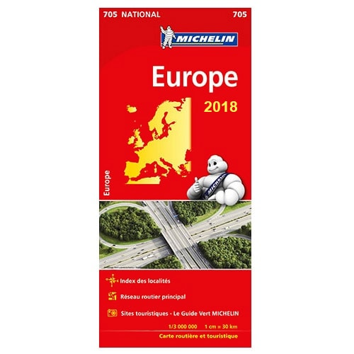 carte de l 39 europe michelin 2018. Black Bedroom Furniture Sets. Home Design Ideas