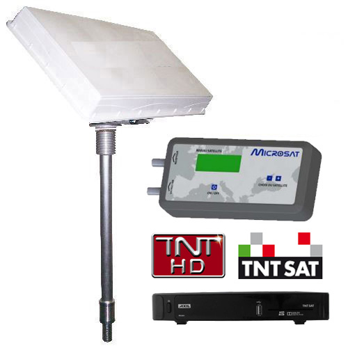 antenne satellite plate msat330 avec d mo tnt pour camping car. Black Bedroom Furniture Sets. Home Design Ideas