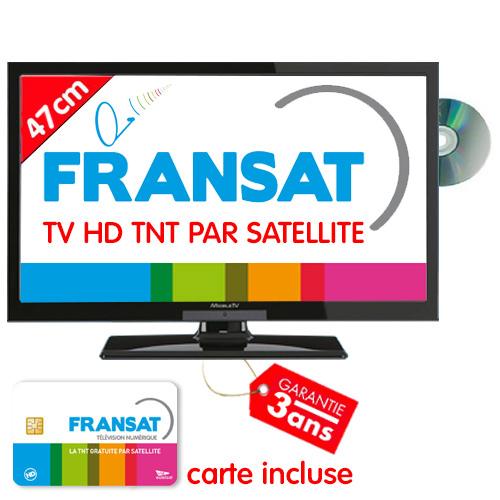 T l vision tv hd led dvd 49cm mobile tv module fransat - Tv avec decodeur satellite integre ...