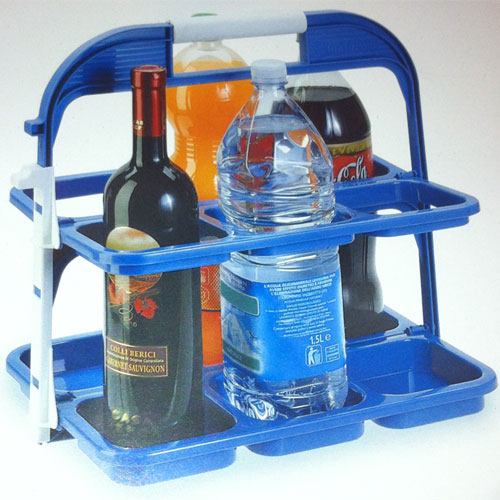 panier porte bouteilles pliant pour 6 bouteilles. Black Bedroom Furniture Sets. Home Design Ideas