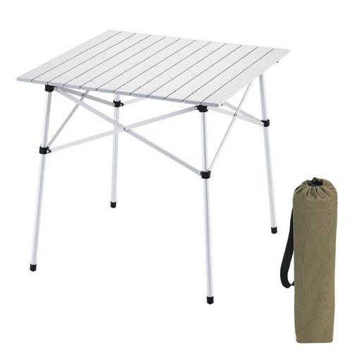 Table de camping parapluie aluminium 70x70cm 2 personnes for Table 2 personnes