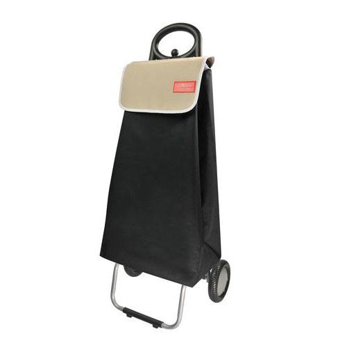 poussette de march bicolor noir et taupe deux roues. Black Bedroom Furniture Sets. Home Design Ideas