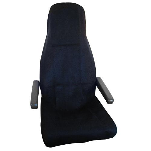 Housse de si ges serviette noir for Housse siege camping car