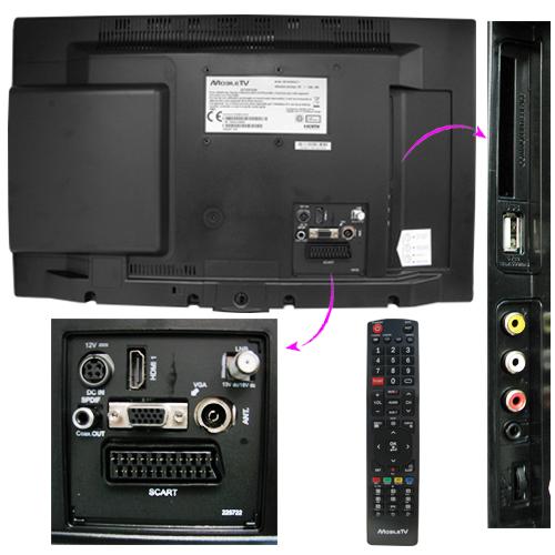 Tv hd mobiletv mtv19sat - Tv avec decodeur satellite integre ...