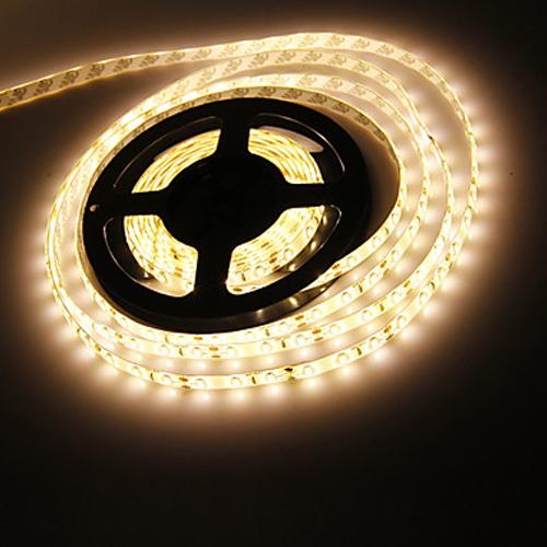 Bandeau LED 5m blanc chaud étanche autocollant
