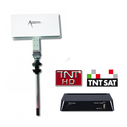 Antenne satellite plate msat330 avec d mo tnt pour camping car for Antenne satellite interieur orange