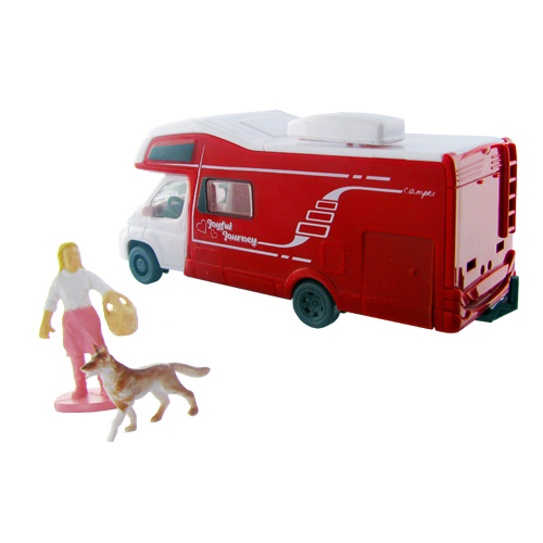 jouet enfant camping car hymer 12cm avec figurines vacances. Black Bedroom Furniture Sets. Home Design Ideas
