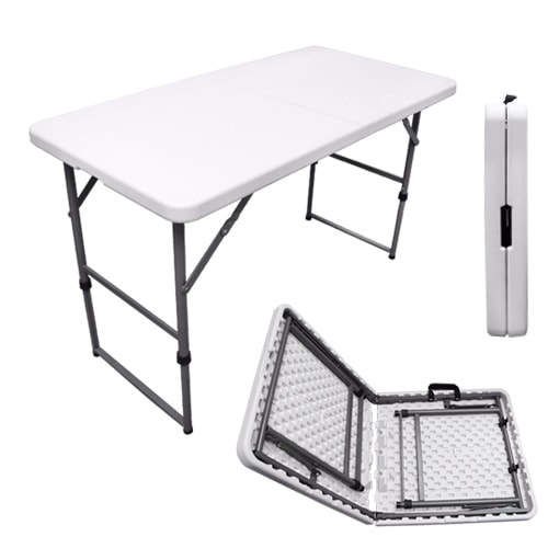 table pliante multiusage easy 122x61 pour camping jardin march f te