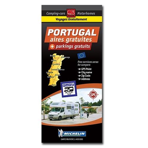 Carte PORTUGAL  Aires de CC et parkings gratuits