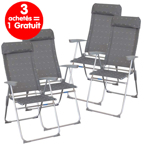 pack de 4 fauteuils eco haut gris midland avec repose tete. Black Bedroom Furniture Sets. Home Design Ideas