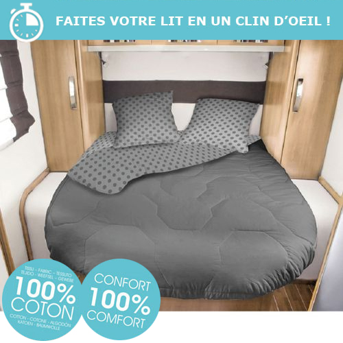 lit tout fait 160x210 dody 2 personnes camping car caravane. Black Bedroom Furniture Sets. Home Design Ideas