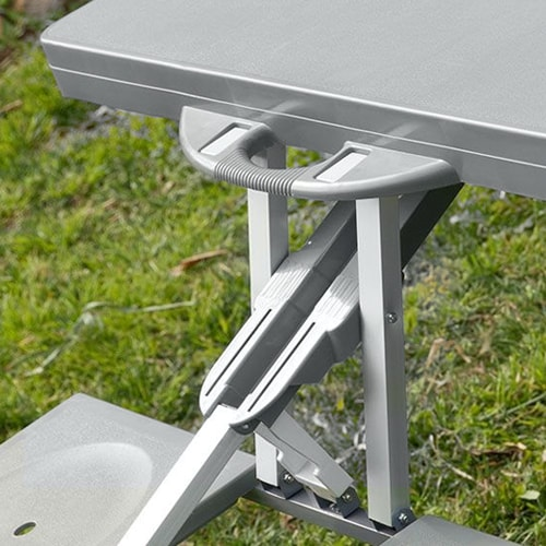 table de camping valise 4 personnes tout en 1 pour picnic camping. Black Bedroom Furniture Sets. Home Design Ideas