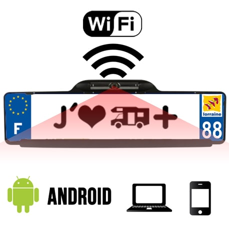 cam ra de recul wifi wisen i senon smartphone android camping car. Black Bedroom Furniture Sets. Home Design Ideas
