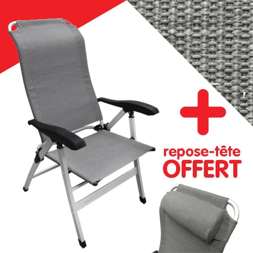 fauteuil aluminium confort maxi gris midland avec dossier ergonomique. Black Bedroom Furniture Sets. Home Design Ideas