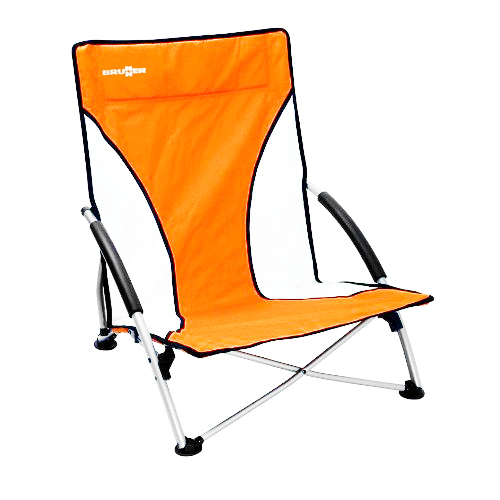 chaise de plage basse cuba orange brunner id ale pour camping plage. Black Bedroom Furniture Sets. Home Design Ideas