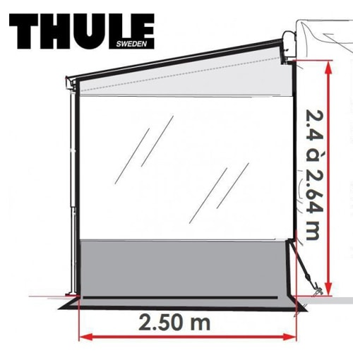 paroi lat rale store thule rain blocker g2 side large 2m50 smart panel. Black Bedroom Furniture Sets. Home Design Ideas
