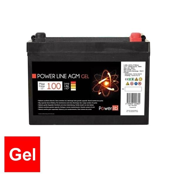 Batterie auxiliaire Power Line Gel 100 AH Powerlib